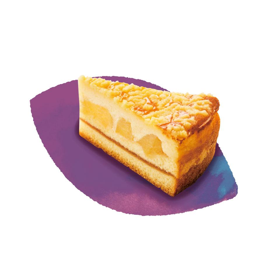 ふじ林檎のチーズケーキ