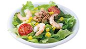 小海老とツナのサラダ