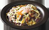 ハッシュドビーフドリア〜半熟卵のせ〜