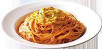 モッツァレラチーズのトマトクリームソース