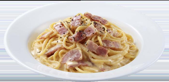 チーズ風味のカルボナーラ